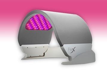 Facial LED light treatment